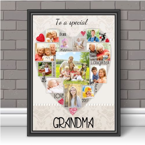 Personalised Special Grandma Photo Poster Print Word Art Keepsake Gift N121 Unframed
